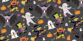 repeat halloween background surface pattern design by steph calvert