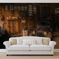 wall mural photo wallpaper xxl garage rusty old car vintage image is loading wall mural photo wallpaper xxl garage rusty old