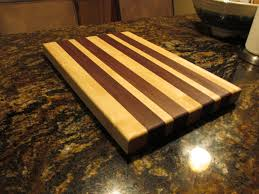 handmade edge grain butcher block cutting board maple and walnut