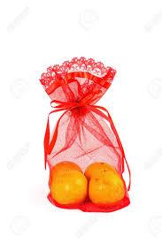 bag new year mandarin orange and net bag new year stock photo