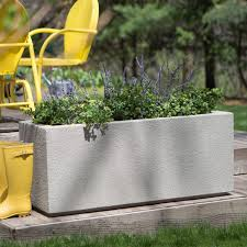 Galvanized Trough Planter by Poly Stone Milan Tall Trough 4 Ft Outdoor Planter Hayneedle