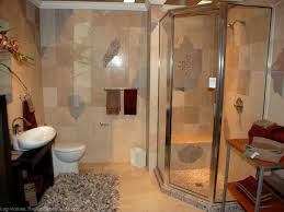 bathroom small shower with round glass wall and chrome shower