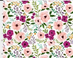 Purple Floral Curtains Floral Drapes Etsy