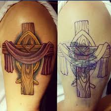 cross cover up done by mike amazinggracetattoo amazing