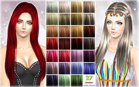 27 hair color palet by jennisims sims 3 downloads cc caboodle
