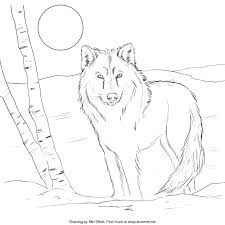 free printable coloring page wolf u2013 i love mel