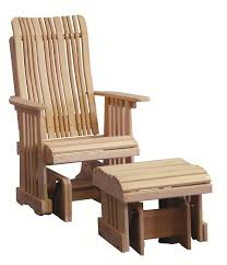 Cypress Adirondack Chairs Amish Handcrafted Cypress Outdoor 2 U0027 Highback Glider With Optional