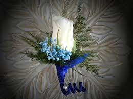 royal blue boutonniere 004 boutonniere