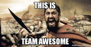 Meme Awesome - this is team awesome the 300 make a meme