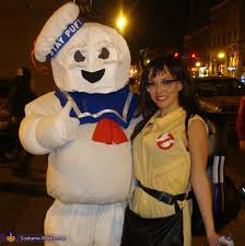 Ghostbusters Halloween Costumes Stay Puft Marshmallow Forbidden Love Halloween Costume Idea