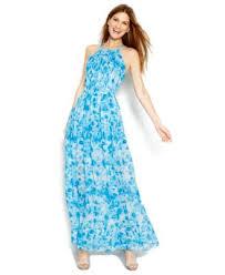 calvin klein printed halter maxi dress dresses women macy u0027s