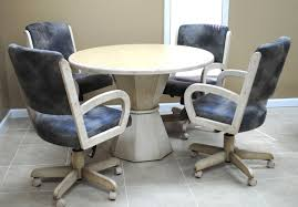 kitchen table with caster chairs kitchen table sets with casters beautiful tobias designs dinette