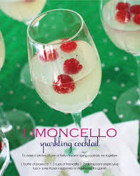 sparkling limoncello cocktail recipe recipes pinterest