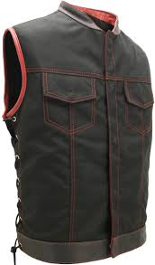 leather motorcycle coats soa style side lace cordura military grade fabric black red