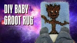 Galaxy Rug Diy Guardians Of The Galaxy Rug Baby Groot Youtube