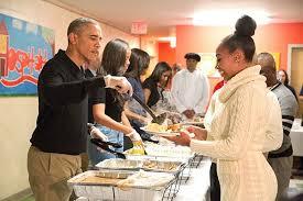 obama family serves thanksgiving dinner to homeless veterans in