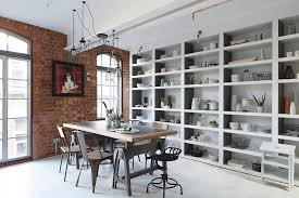 home trends design london loft dining table in walnut industrial london loft apartment by olivier burns