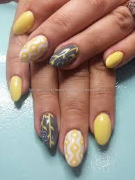 eye candy nails u0026 training pastel lemon yellow and grey gel
