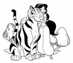 jasmine tiger rajah coloring netart