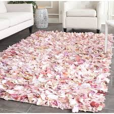 Pink Bathroom Rugs by Floors U0026 Rugs Hand Woven Chic Pink Shaggy Rugs For Modern Living