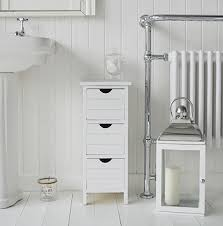 maine slim freestanding bathroom cabinet with 3 drawers for inside