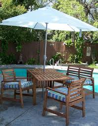 Patio Furniture Set With Umbrella - ikea patio umbrella recommendation homesfeed