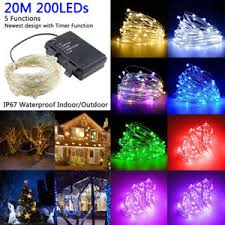 led fairy lights with timer 200 led string fairy lights silver wire battery operated waterproof