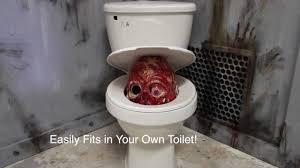 toilet pop up startle scare pneumatic halloween prop halloween
