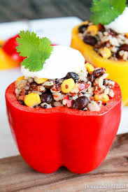 Easy Dinner Party Main Dishes - southwest grains stuffed peppers recipe suddenly salad