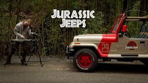 jurassic world jeep 1993 jeep wrangler yj jurassic jeeps youtube