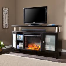 best electric fireplace tv stand black home design great gallery