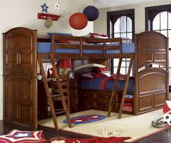 Bunk Beds Set Tri Bunk Bed Bedroom Sets Experience Home Decor Make Bunk