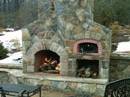build brick oven outdoor kitchen with fireplace 2339