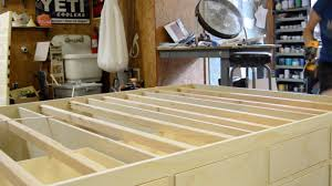 How To Make A Platform Bed With Drawers Underneath by Diy Queen Bed Frame With Drawer Storage Wilker Do U0027s