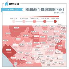 see the cheapest and most expensive la neighborhoods to rent this