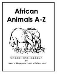 african animals habitat biome savanna colouring grassland