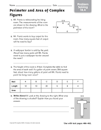 perimeter and area of complex figures problem solving 18 4 4th