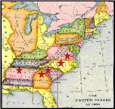 map usa in 1800 the arnold family question