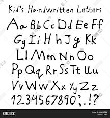 kid u0027s handwritten letters full vector u0026 photo bigstock