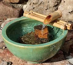 amazon com bamboo accents zen garden water fountain spout