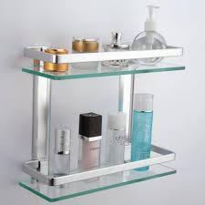 Glass Shelves For Bathroom Wall Bathroom Glass Shelves For Bar Area Antique Bathroom Vanity