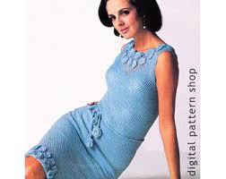 womens crochet dress pattern vintage chevron maxi dress