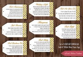 baby shower gift basket poem instant 1st milestone wine poem tags gold foil