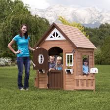 amazon com backyard discovery aspen all cedar wood playhouse