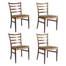 set of 4 dining room chairs set of four danish rosewood dining chairs by johannes andersen for