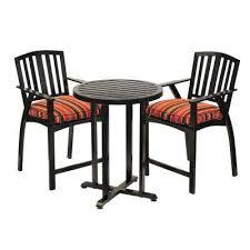 Patio Bistro Chairs Counter Height Bistro Sets Patio Dining Furniture The Home Depot