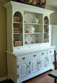 diy refurb an old china cabinet with fresh paint and line the