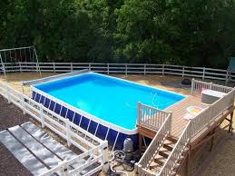 Above Ground Pool Landscaping Ideas Landscaping Around Above Ground Pool Gallery Simple Landscaping
