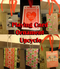 card ornament upcycle three blind