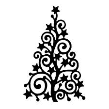 swirly christmas tree clipart 53